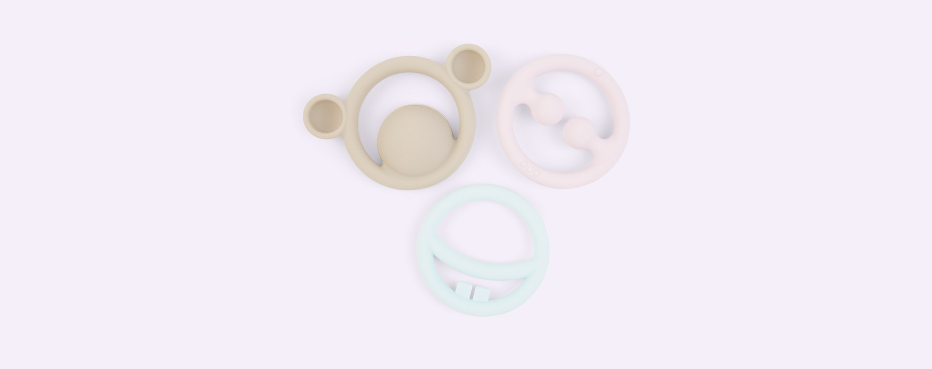 Pastel Moluk Nigi, Nagi & Nogi Teething Ring