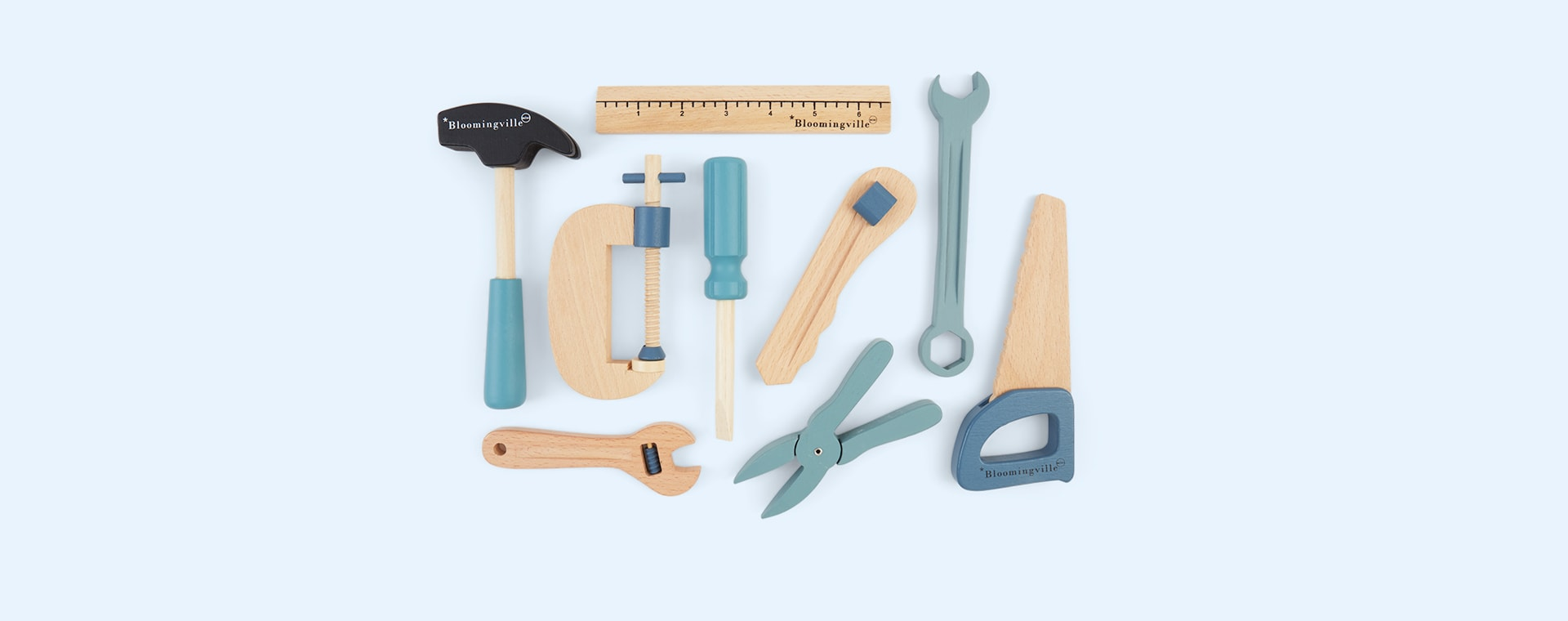 Blue Bloomingville Wooden Tool Set