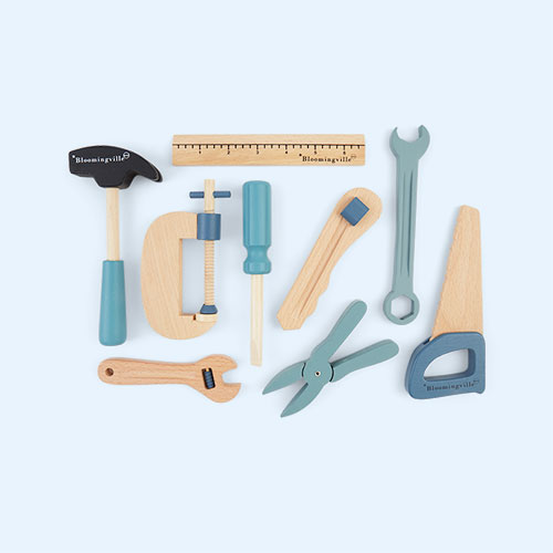 Blue Bloomingville Wooden Tool Set