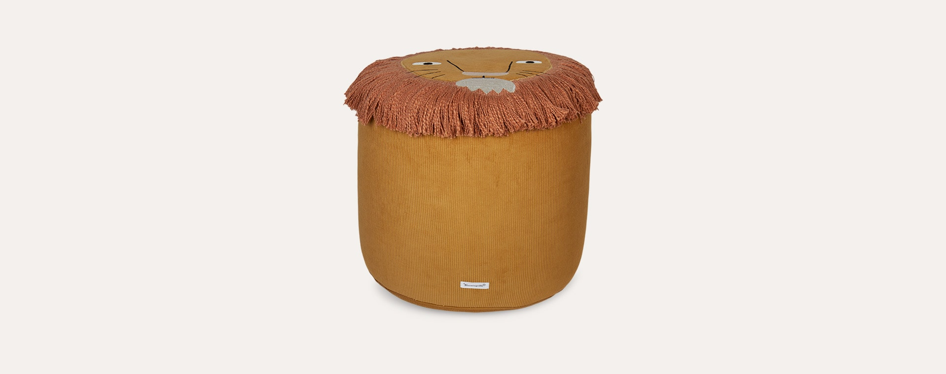 Yellow Bloomingville Lion Pouf