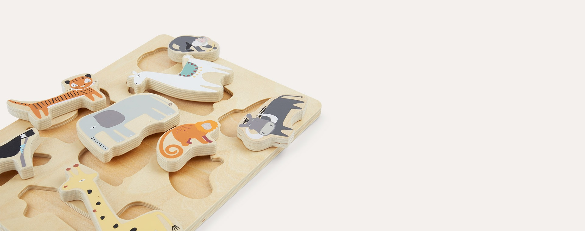 Multi Bloomingville Wooden Toy Animals
