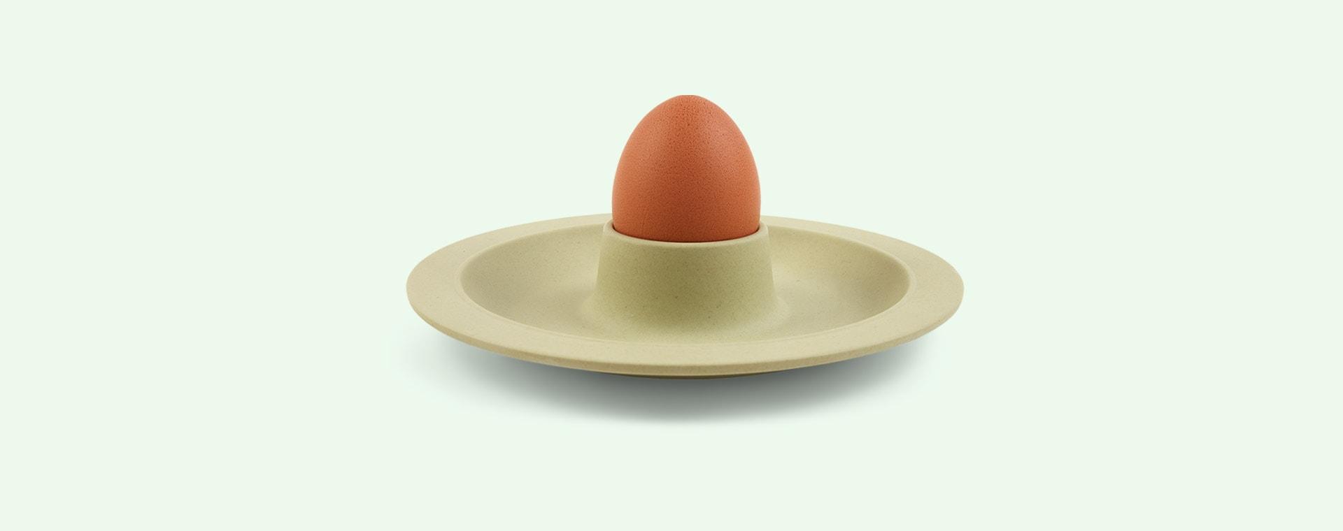Green Zuperzozial Dippy Egg Plate