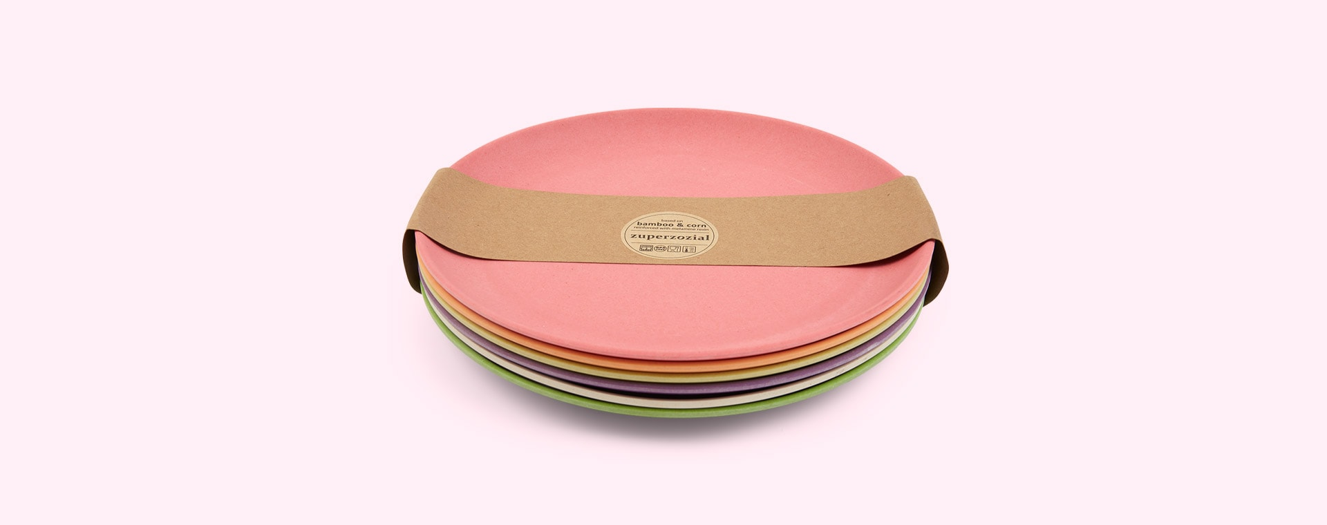 Rainbow Zuperzozial Small Plates Set Of 6