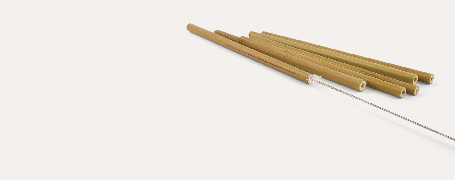 Neutral Zuperzozial Bamboo Reusable  Straws