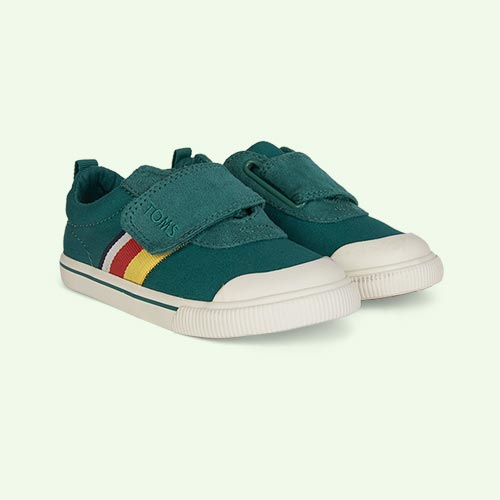 Green TOMS Striped Doheny Sneaker