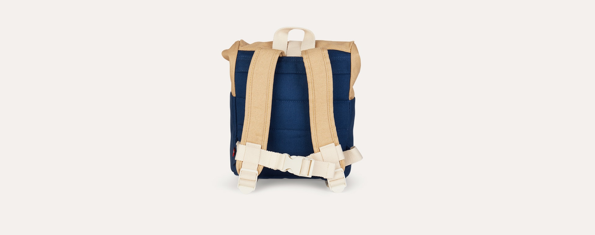 Navy/Beige Blafre Roll Top Backpack