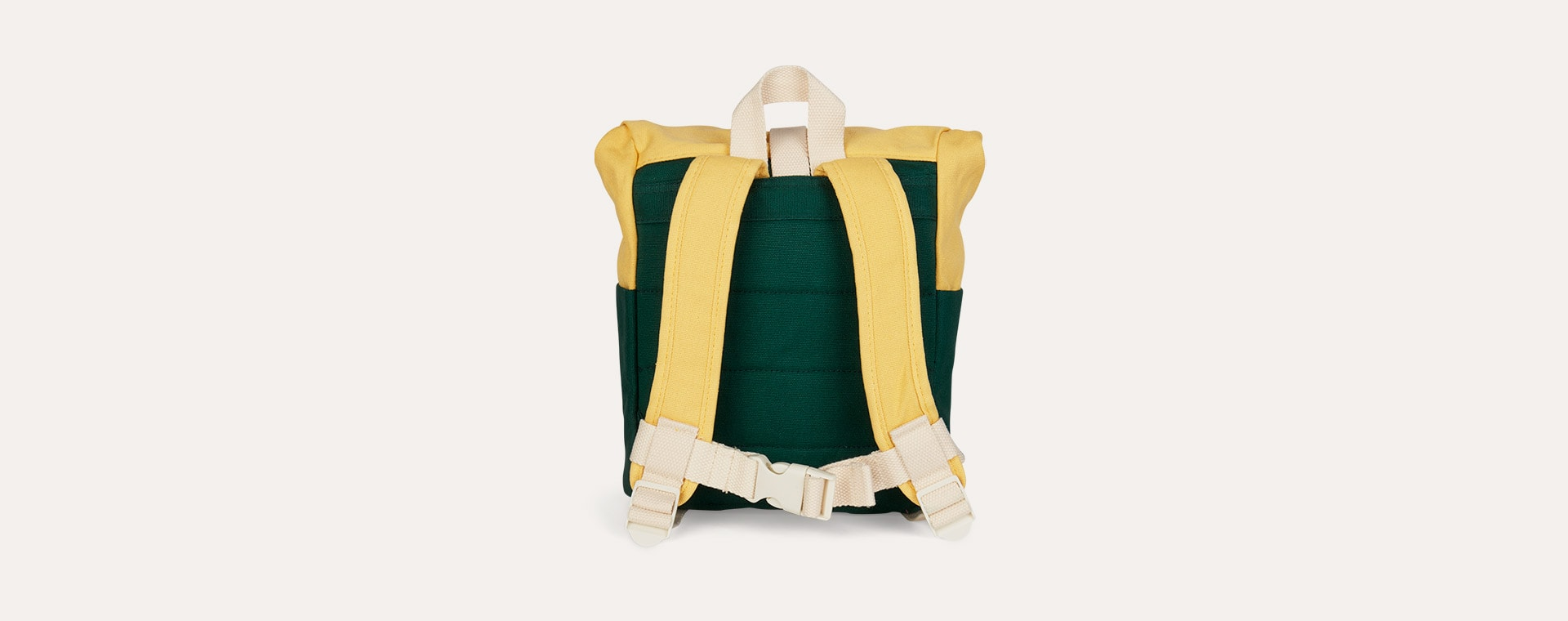 Dark Green/Yellow Blafre Roll Top Backpack