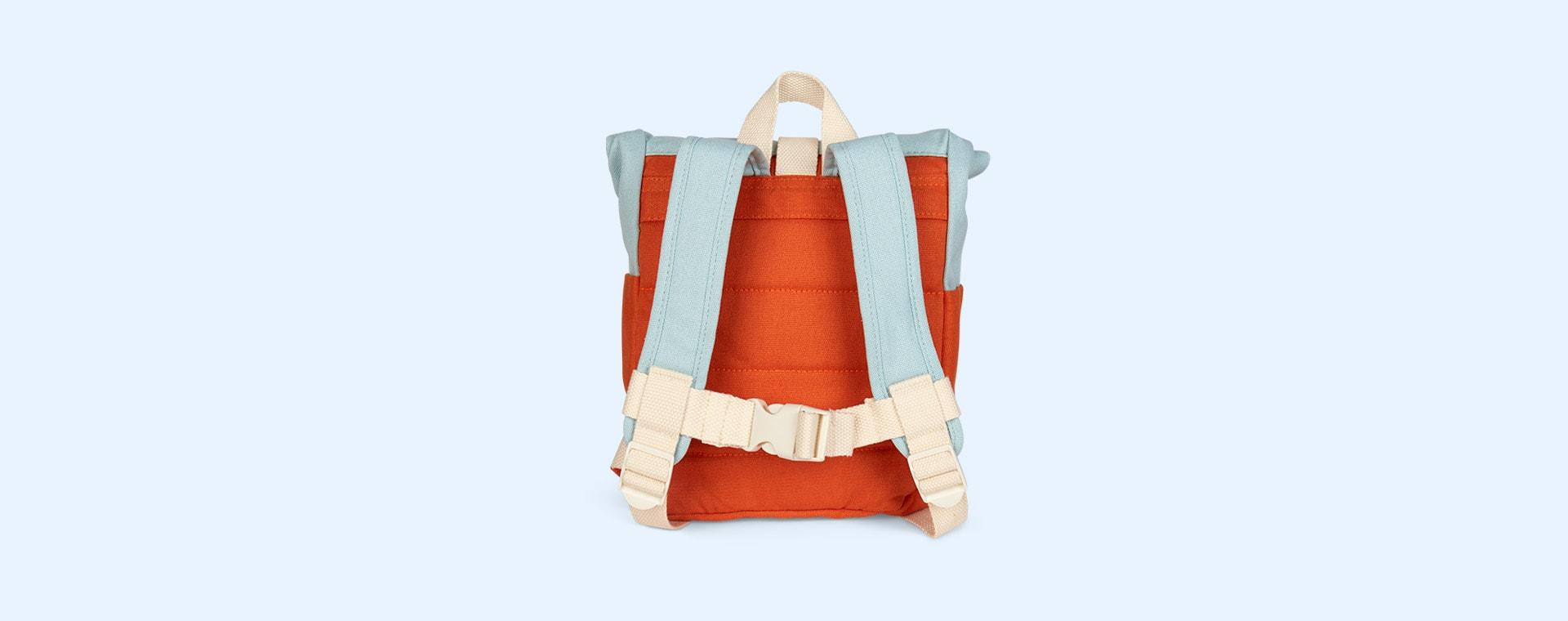 Orange/Lightblue Blafre Roll Top Backpack