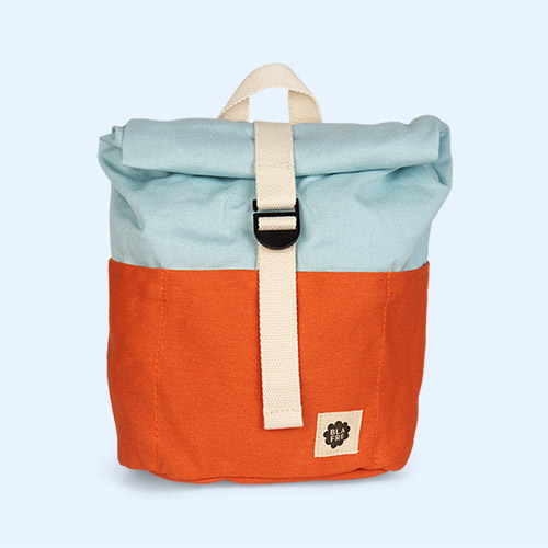 Orange/Lightblue Blafre Roll Top Backpack