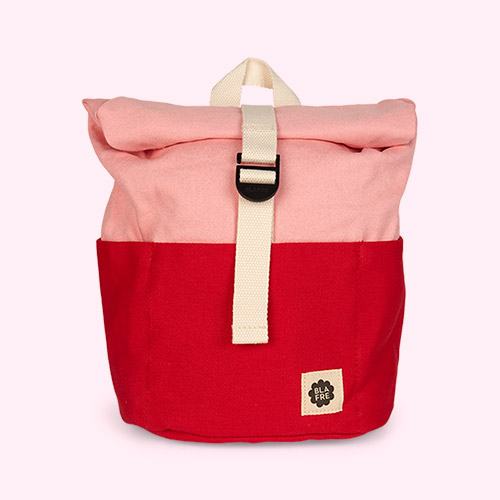 Red/Pink Blafre Roll Top Backpack