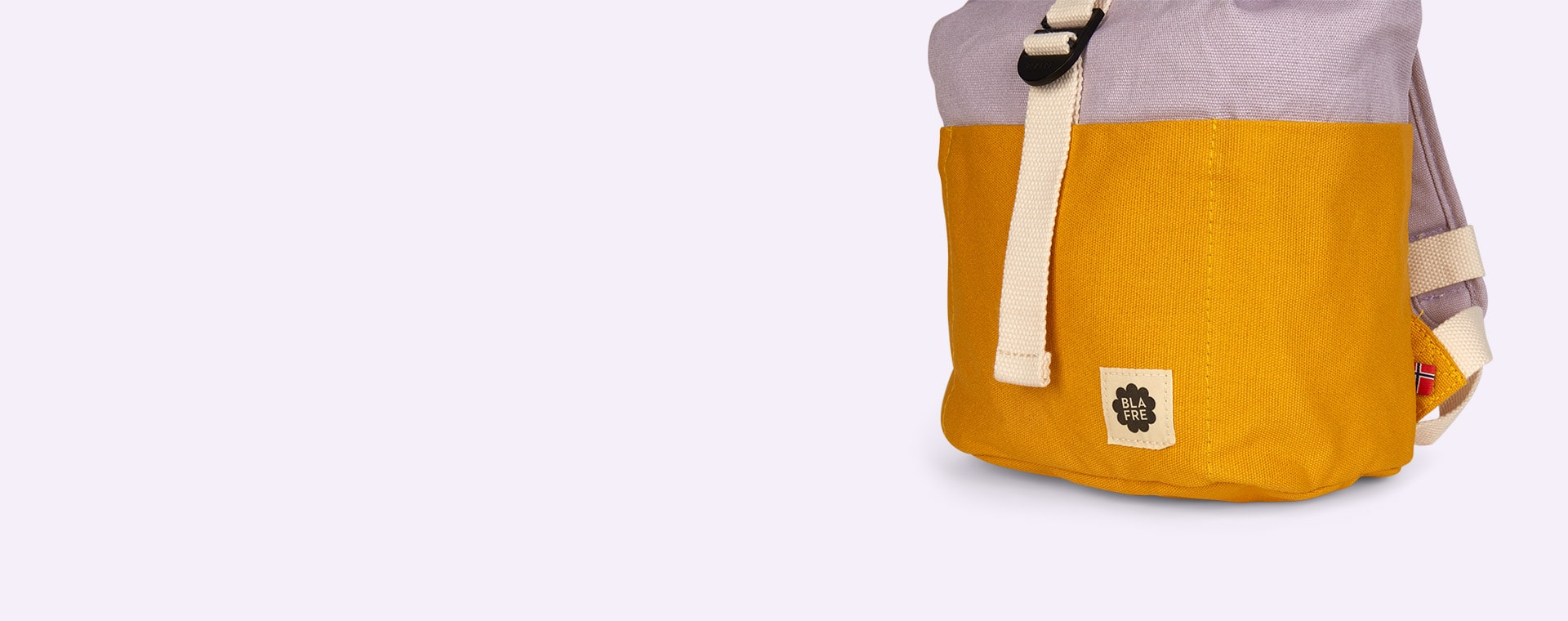 Yellow/Purple Blafre Roll Top Backpack