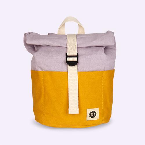 Yellow/Purple Blafre Roll Top Backpack