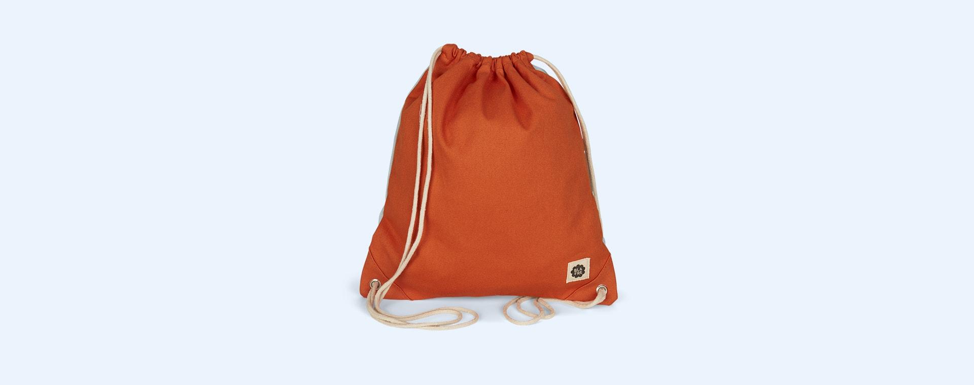 Orange & Lightblue Blafre Drawstring Bag