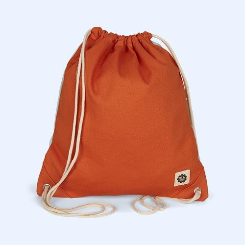 Orange & Lightblue Blafre Drawstring Bag