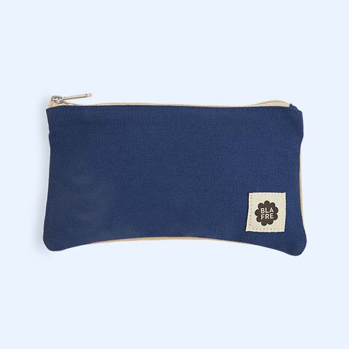 Navy & Beige Blafre Pencil Case