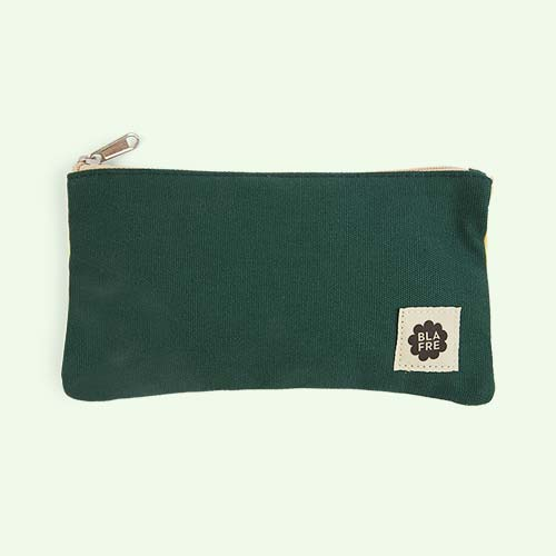 Dark Green & Light Yellow Blafre Pencil Case