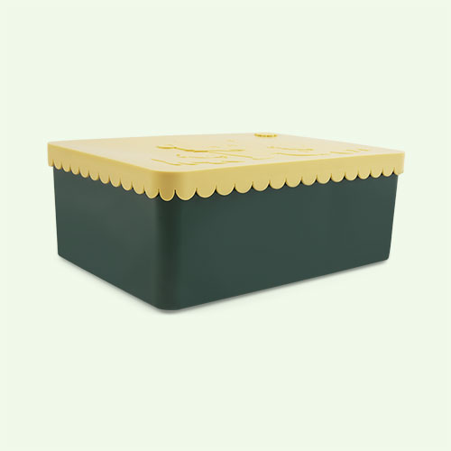 Dark Green & Yellow Blafre Lunchbox
