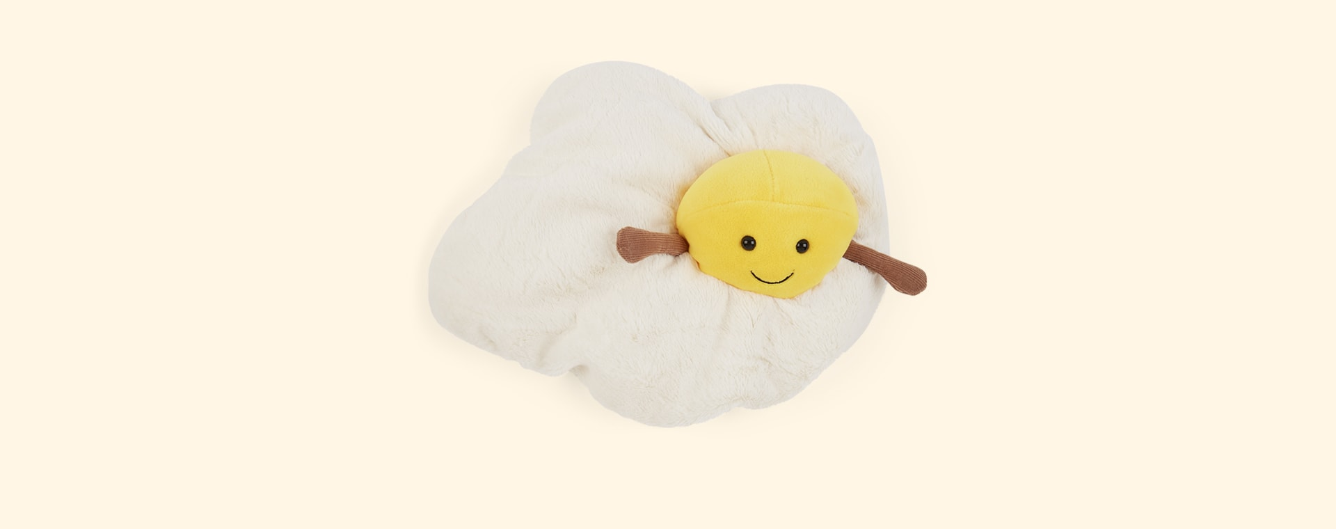 White Jellycat Amuseable Fried Egg
