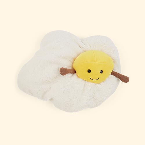 White Jellycat Amuseable Fried Egg