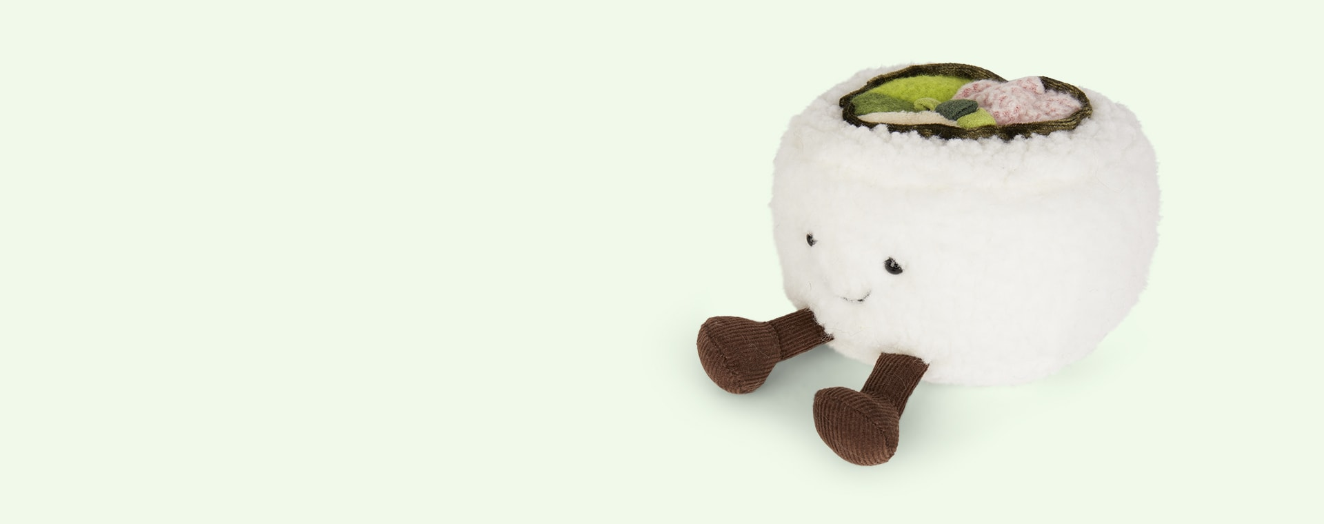 White Jellycat Silly Sushi California