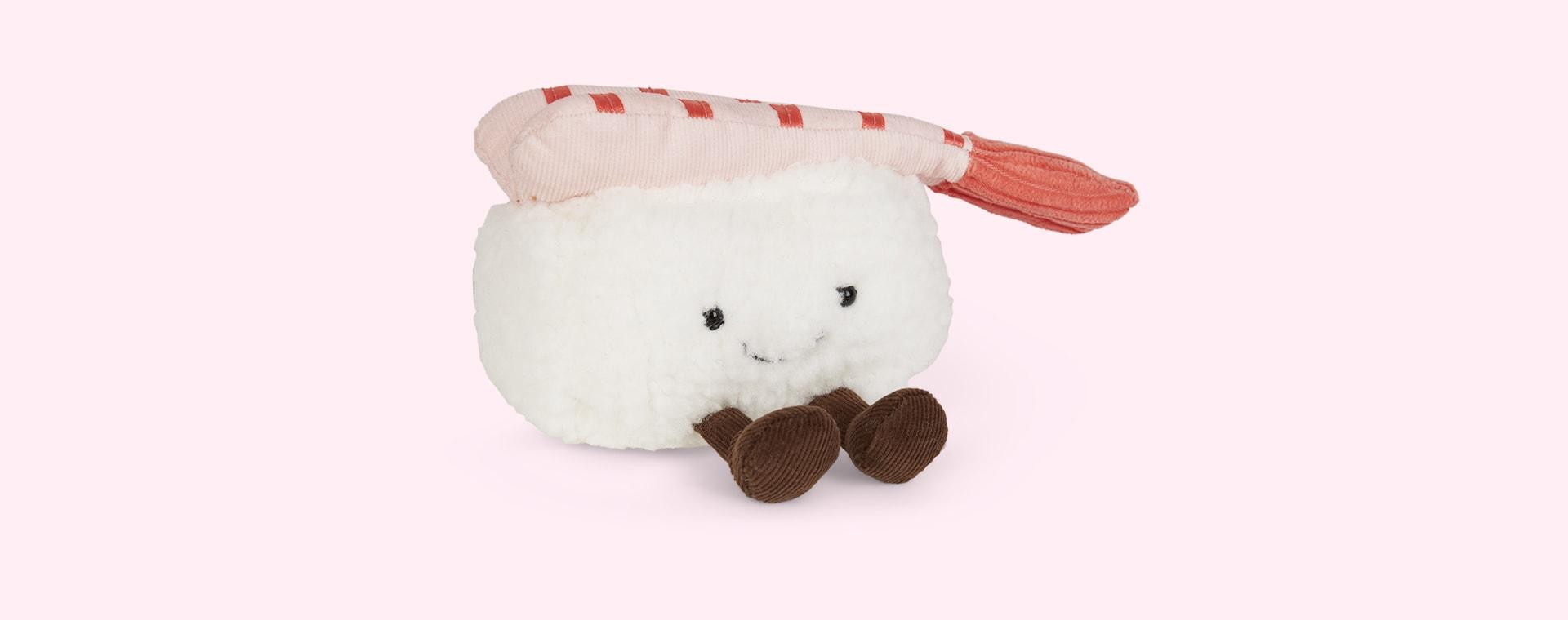 White Jellycat Silly Sushi Nigiri