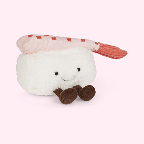 White Jellycat Silly Sushi Nigiri