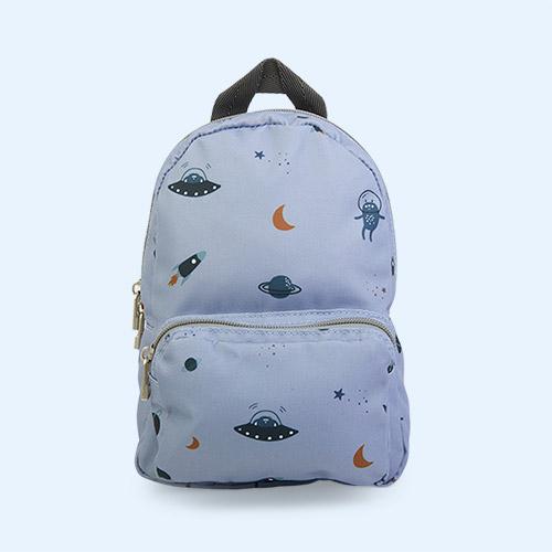 Space Blue Fog Mix Liewood Saxo Mini Backpack