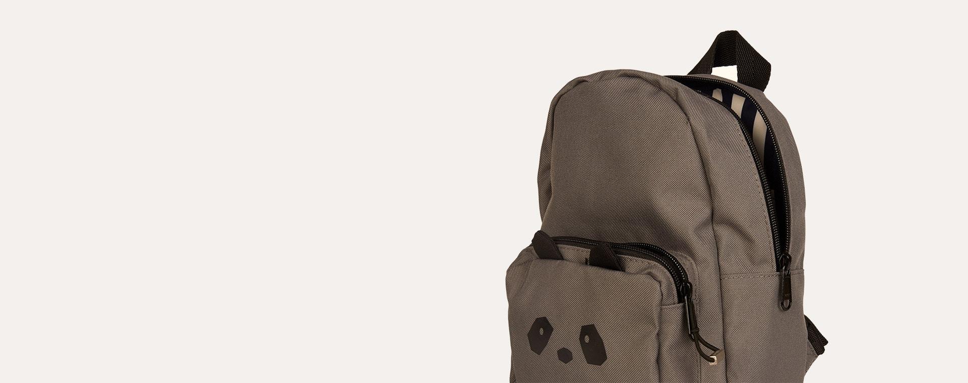 Panda Stone Grey Liewood Saxo Mini Backpack