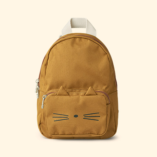 Cat Golden Caramel Liewood Saxo Mini Backpack