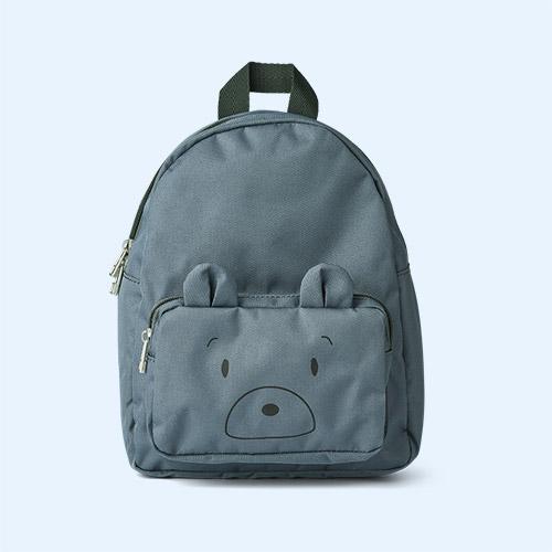 Mr Bear Whale Blue Liewood Allan Backpack