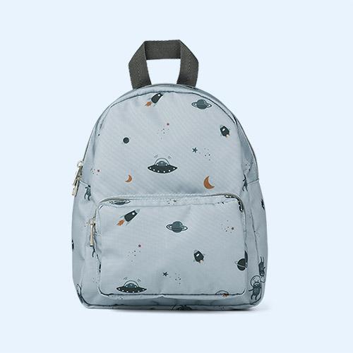 Space Blue Fog Mix Liewood Allan Backpack