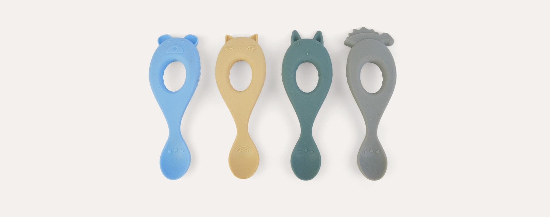 Peppermint Multi Mix Liewood 4-Pack Liva Silicone Spoon