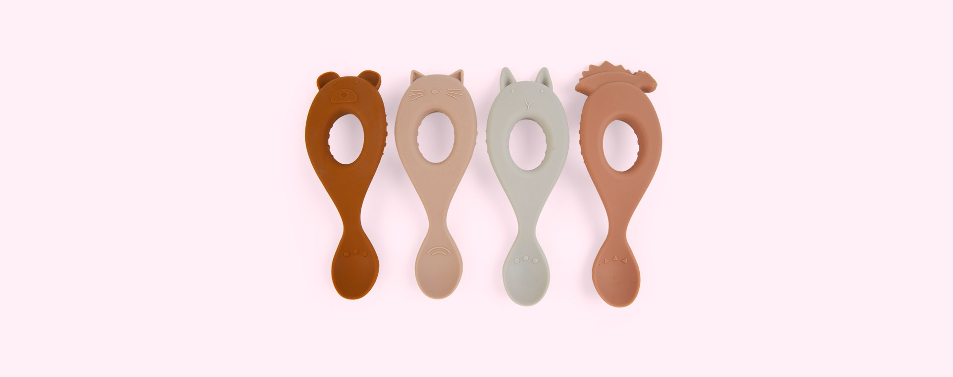 Rose Pink Mix Liewood 4-Pack Liva Silicone Spoon