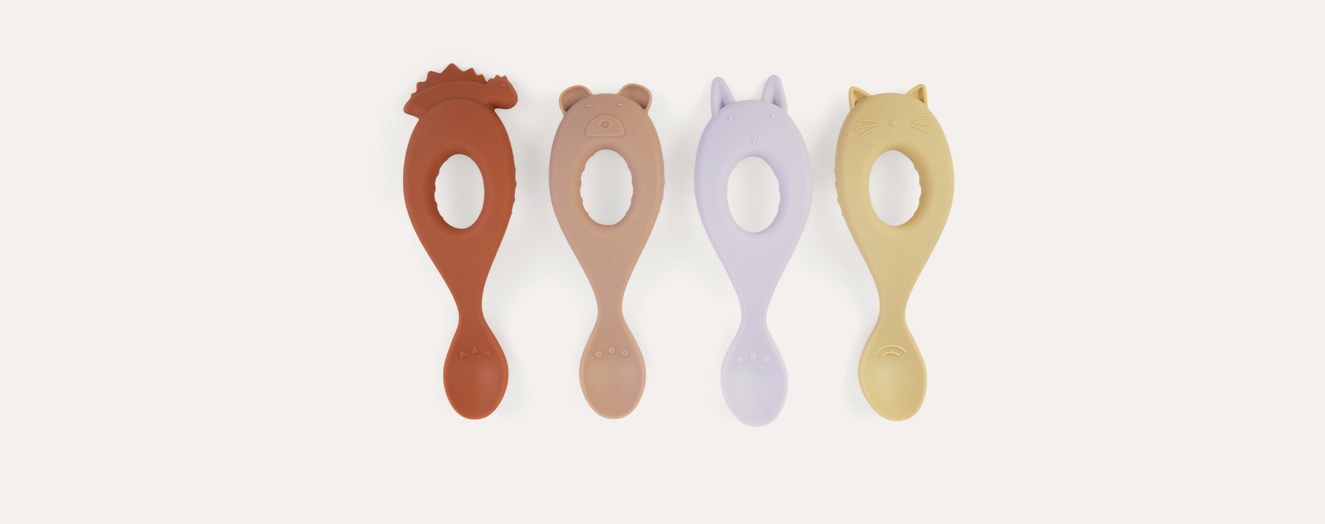 Lavender Multi Mix Liewood 4-Pack Liva Silicone Spoon