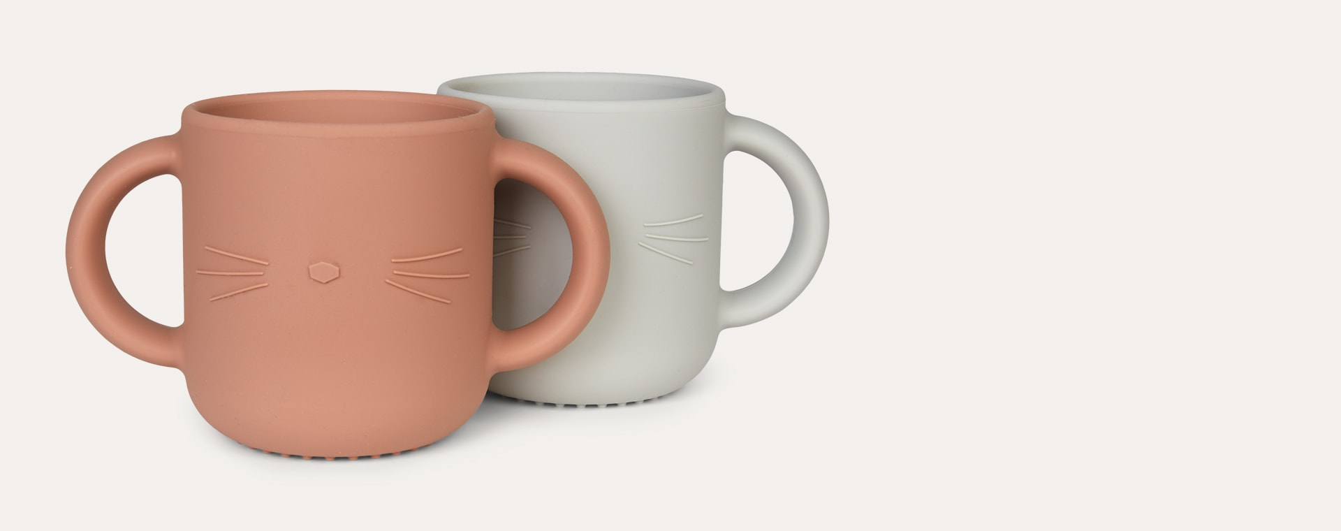 Dumbo Grey Liewood Gene Silicone Cup - 2 Pack