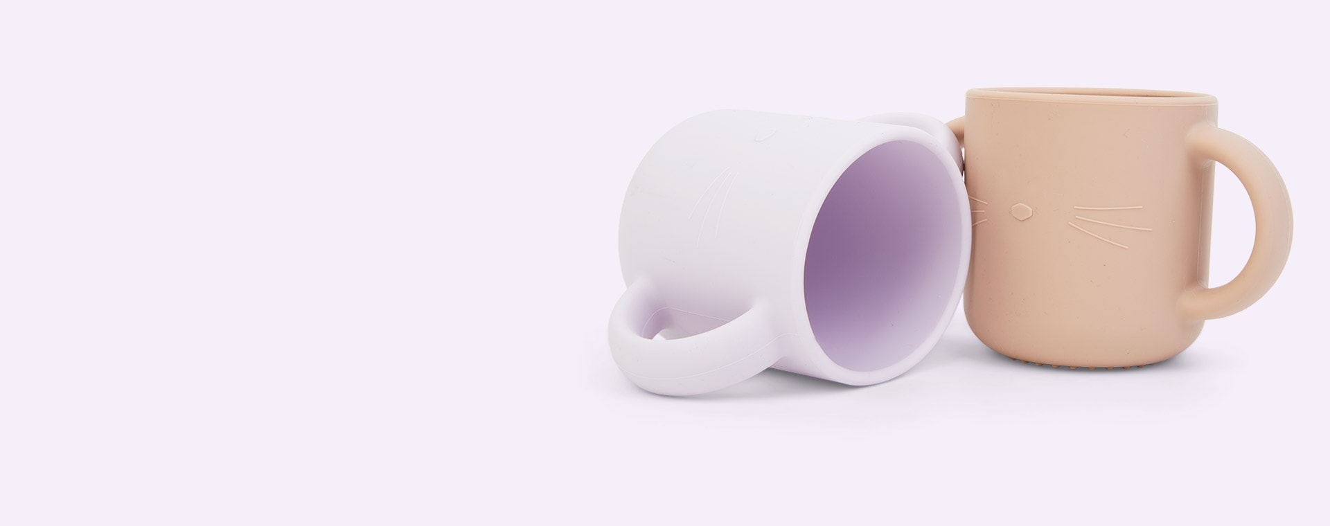 Cat Light Lavender Rose Mix Liewood 2-Pack Gene Silicone Cup