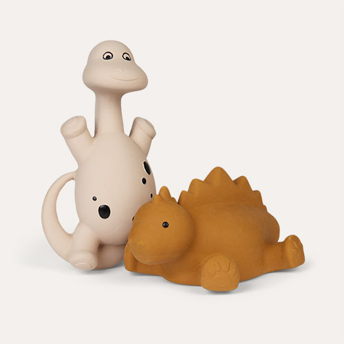 Rose Mix Liewood Algi Dinosaur Bath Toys 2 Pack