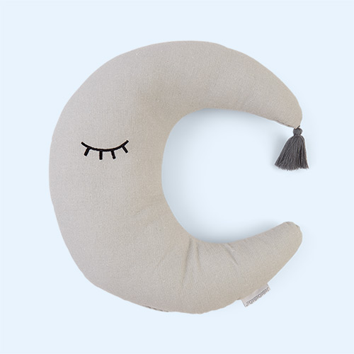 Grey Jabadabado Moon Cushion