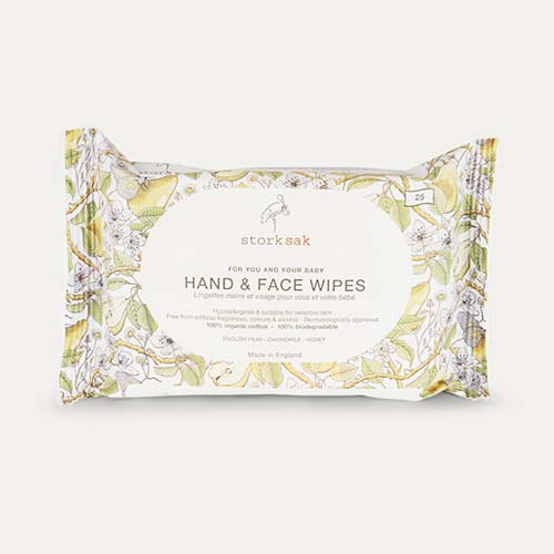 White Storksak Organics Cotton Hand and Face Wipes