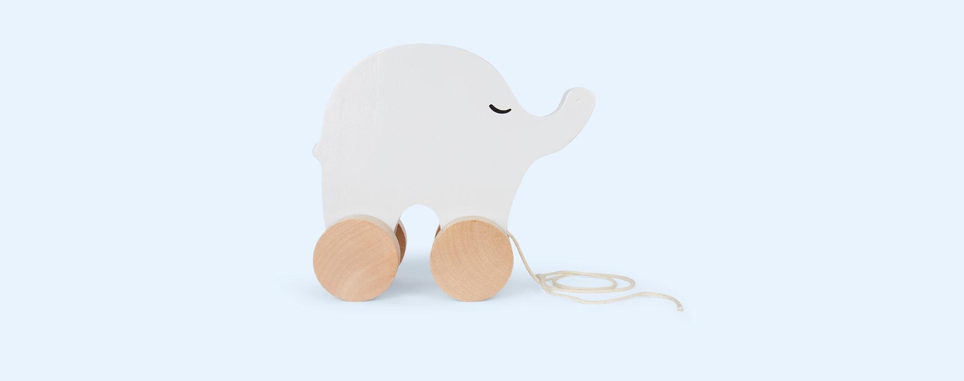 Elephant Jabadabado Wooden Pull Along Toy