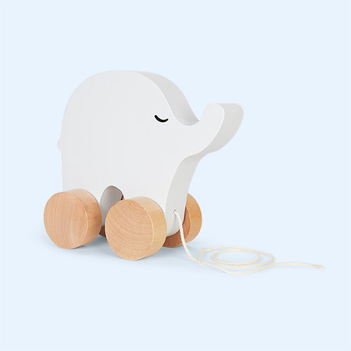 Elephant Jabadabado Wooden Pull Along Toy