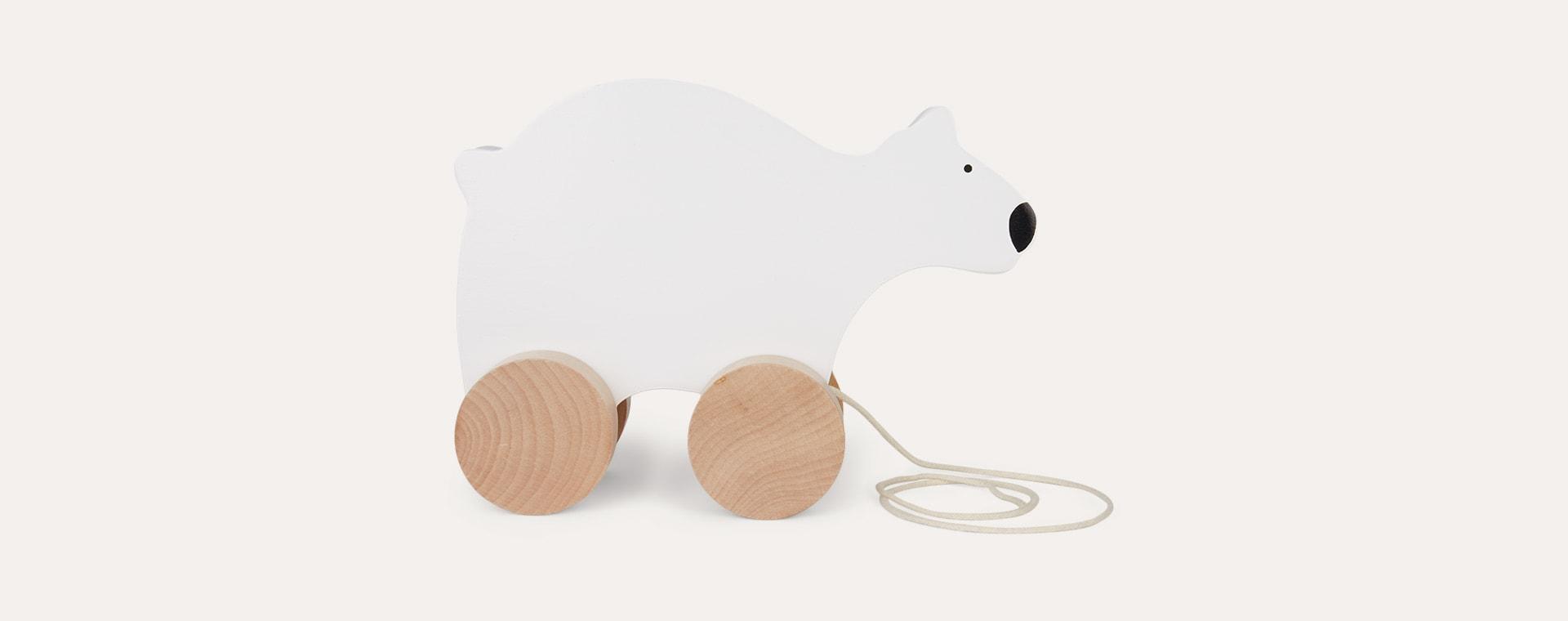 Polar Bear Jabadabado Wooden Pull Along Toy