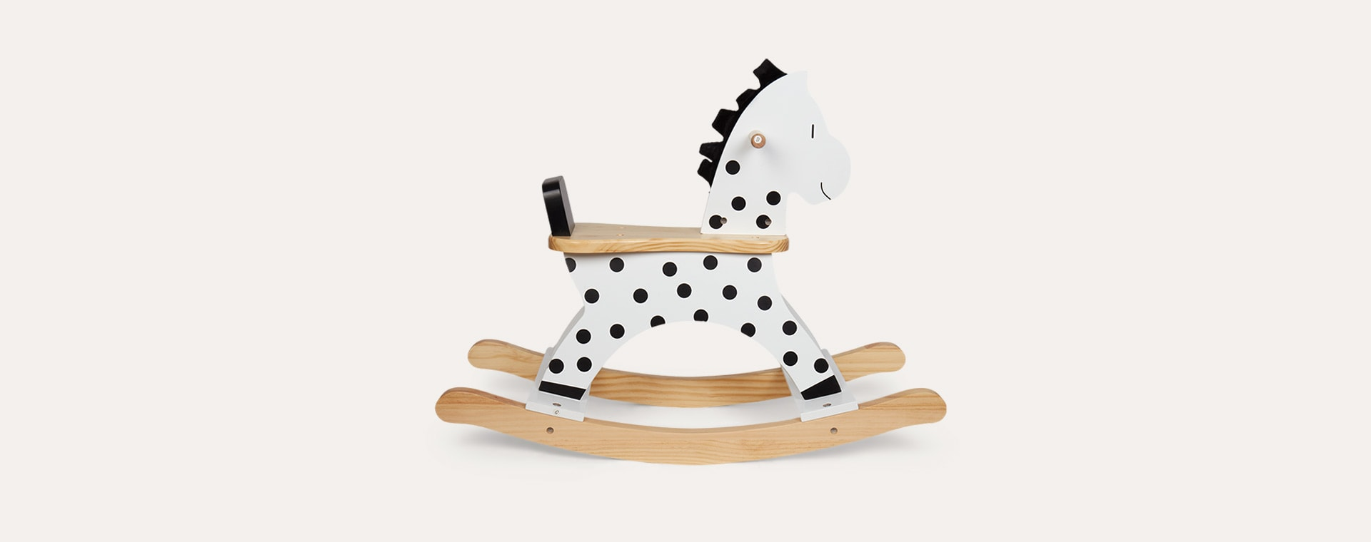 White Jabadabado Wooden Rocking Horse