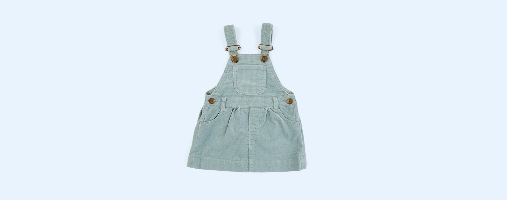 Mint Dotty Dungarees Corduroy Dress