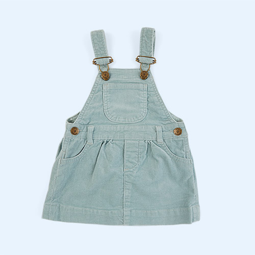 Mint Dotty Dungarees Corduroy Dress