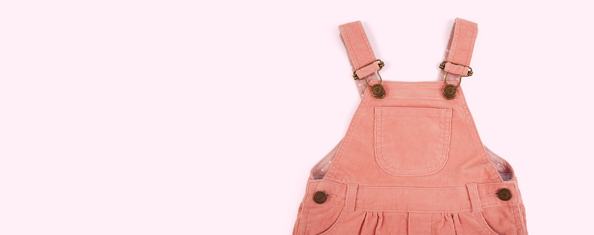 Old Rose Dotty Dungarees Corduroy Dress