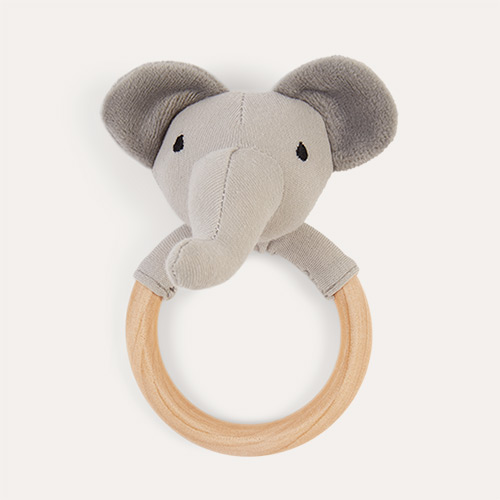 Grey Jabadabado Rattle Ring Elephant
