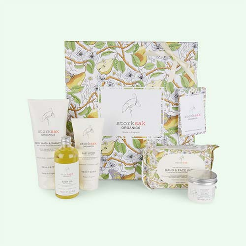 White Storksak Baby Spa Toiletry Set