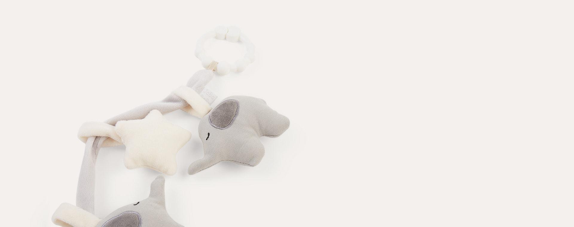 Grey Jabadabado Pram Rattlechain Elephant