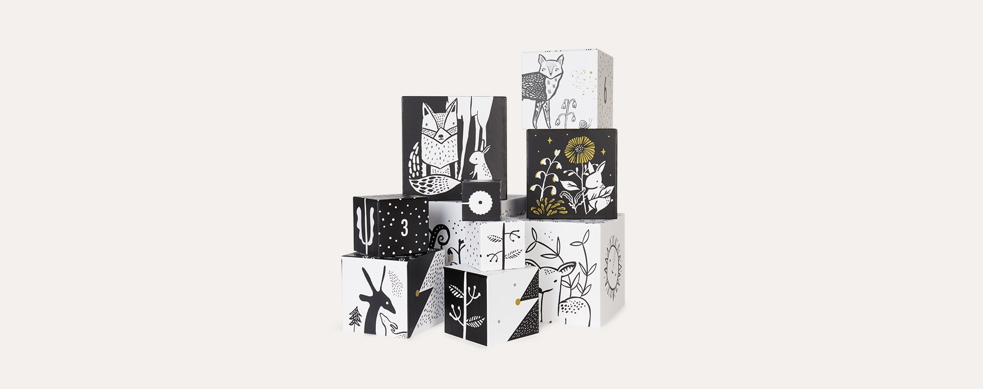 Woodland Numbers Wee Gallery Nesting Boxes